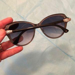 David Yurman DY 126 Sunglasses: Black/Silver/Grey